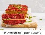 vegan lentil casserole with... | Shutterstock . vector #1084765043