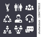 set of 9 people filled icons... | Shutterstock .eps vector #1084778513