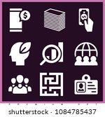 set of 9 business filled icons... | Shutterstock .eps vector #1084785437
