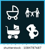 set of 4 baby filled icons such ... | Shutterstock .eps vector #1084787687