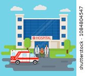 hospital building in flat style ... | Shutterstock .eps vector #1084804547