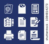 set of 9 document filled icons...   Shutterstock .eps vector #1084814273