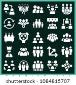 set of 25 group filled icons... | Shutterstock .eps vector #1084815707