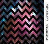 zigzag pattern on colorful... | Shutterstock . vector #1084819367