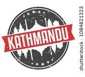 kathmandu nepal round travel...   Shutterstock .eps vector #1084821323