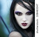 Girl With Black Hair With Dark...