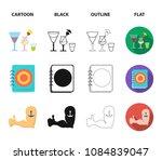 menu  armor with tattoo  darts  ... | Shutterstock .eps vector #1084839047