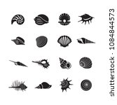 sea shells icon set isolated on ...   Shutterstock .eps vector #1084844573