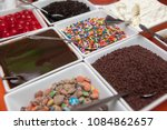 candy toppings for ice cream | Shutterstock . vector #1084862657
