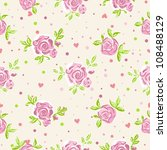 Seamless roses wallpaper pattern - stock vector