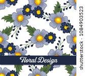 beautiful floral design. vector ...   Shutterstock .eps vector #1084903523