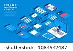 ux ui flowchart. mock ups ... | Shutterstock .eps vector #1084942487