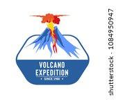 volcano eruption vector...   Shutterstock .eps vector #1084950947
