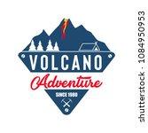 volcano eruption vector...   Shutterstock .eps vector #1084950953