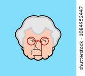 evil grandmother old hag. bad... | Shutterstock .eps vector #1084952447