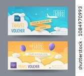 set of modern travel vouchers...   Shutterstock .eps vector #1084970993