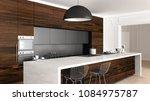 classic kitchen in vintage room ...   Shutterstock . vector #1084975787
