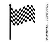checkered racing flag icon.... | Shutterstock .eps vector #1084989437