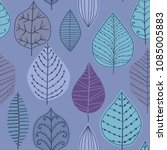 seamless pattern with leaf.... | Shutterstock .eps vector #1085005883