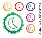 moon icon  vector icons  | Shutterstock .eps vector #1085008913