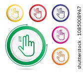 hand gesture icon two fingers... | Shutterstock .eps vector #1085008967