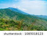 an intricate mountain with blue ... | Shutterstock . vector #1085018123