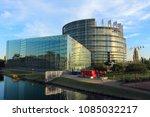 strasbourg  france   august 7 ... | Shutterstock . vector #1085032217