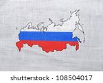 Flag Of Russia On A Sackcloth...