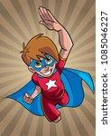 illustration of super hero boy...   Shutterstock .eps vector #1085046227