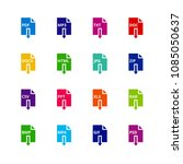 file format extensions icons.... | Shutterstock .eps vector #1085050637