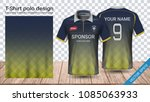 polo t shirt with zipper ... | Shutterstock .eps vector #1085063933