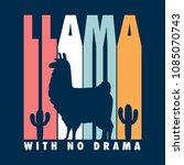 llama shirt design   retro feel ... | Shutterstock .eps vector #1085070743