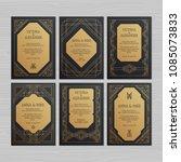 luxury wedding invitation or...   Shutterstock .eps vector #1085073833