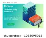 big data. backup copy. concept... | Shutterstock .eps vector #1085095013
