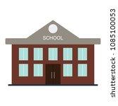 school building icon. flat... | Shutterstock .eps vector #1085100053