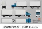 truck vector mockup. isolated...   Shutterstock .eps vector #1085113817