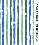 trendy watercolor brush stripes ... | Shutterstock .eps vector #1085118923