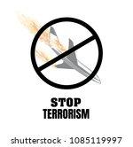 stop terrorism. terrorism on...   Shutterstock .eps vector #1085119997