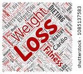 vector conceptual weight loss... | Shutterstock .eps vector #1085137583