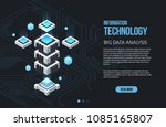concept of big data processing  ... | Shutterstock .eps vector #1085165807