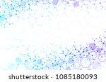 scientific molecule background... | Shutterstock .eps vector #1085180093