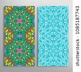 vertical seamless patterns set  ... | Shutterstock .eps vector #1085187743