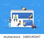 networks webpage concept vector ... | Shutterstock .eps vector #1085190347