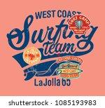 west coast california kids... | Shutterstock .eps vector #1085193983