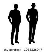 isolated silhouette male | Shutterstock .eps vector #1085226047