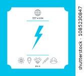thunderstorm lightning icon | Shutterstock .eps vector #1085230847