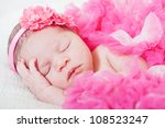 sleeping small princess in... | Shutterstock . vector #108523247