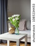 interior. room. a bouquet of... | Shutterstock . vector #1085234453