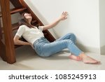 injured woman with hip pain or...   Shutterstock . vector #1085245913