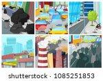 pollution environment vector... | Shutterstock .eps vector #1085251853